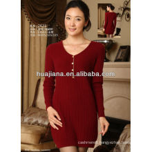 2014 winter women's Cashmere knitting dress