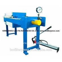 Leo Filter Press small Plate size 500 filter press for wastewater treatment