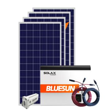 Bluesun three phase 10kw hybrid solar system 10kw home solar power system with battery