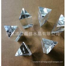 Pendente de vidro do peso de papel da coluna do triângulo do cristal por atacado do fabricante