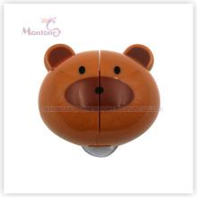 5,8 * 5,2 * 3 cm Badezimmerzubehör Bärenförmiger Zahnbürstenhalter zur Wandmontage mit Saugnäpfen