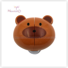 5.8*5.2*3cm Bathroom Accessories Bear-Shaped Wall Mount Toothbrush Holder with Suckers