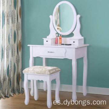 Simple modern dressing table with mirror