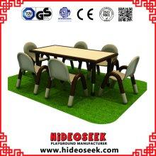 Perschool Massivholz-Tischplatte mit verstellbaren Edelstahl-Beinen