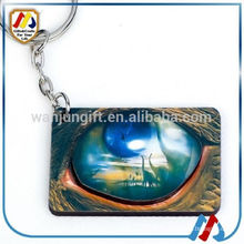 Promotional wooden evil eye beads key chain for advertising
