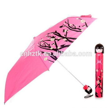 Neuer Werbegeschenkregenschirm 2018, Regenschirm der japanischen Puppe, billiger Praxisregenschirm