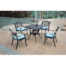 Square table & KD chairs aluminum balcony furniture