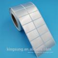 low price mat sliver waterproof printable sticker label