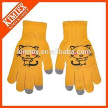 wholesale high quality acrylic custom touch sensitive gloves