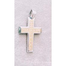 Mode katholischen religiösen Edelstahl Schmuck Kristall Kreuz Anhänger für Männer