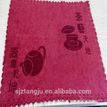 Melhor venda personalizado esteira toalha, toalhas de chá personalizado, toalha de chá de algodão branco liso
