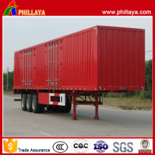 Tri Axles 40ft Flat Bed Strong Box Cargo Semi Trailer