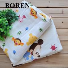 100% algodão impresso Voile tecido macio e confortável para pano de bebê e lenço