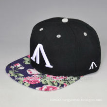 floral fabric snapback embroidery hat