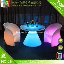 Mesa / cadeira de barra iluminada do diodo emissor de luz