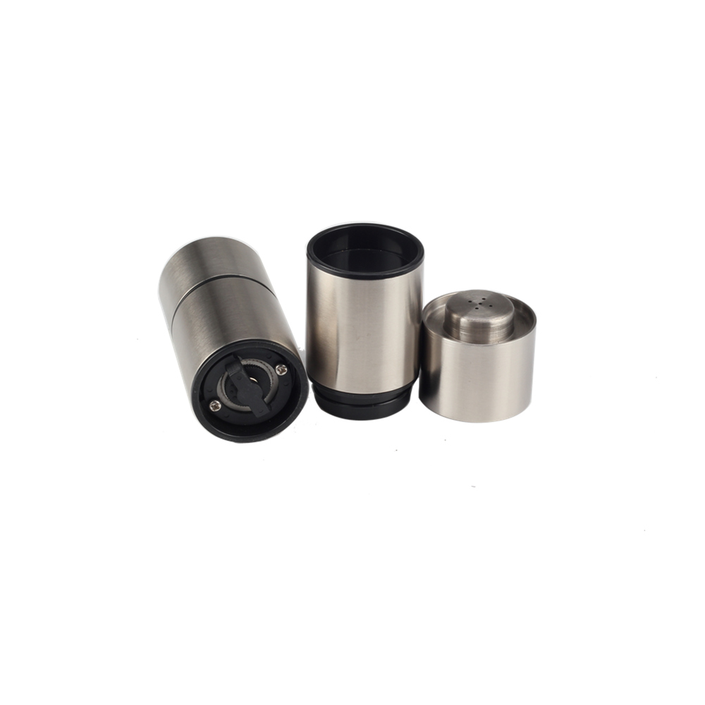 Ss304 Salt Shaker And Pepper Grinder Set For Kitchen