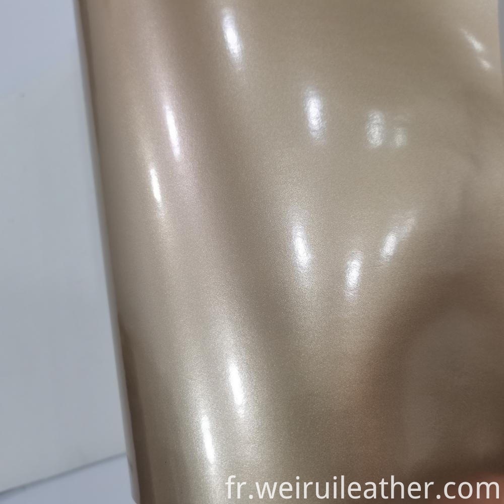 Pearlescent Mirror Pu Leather