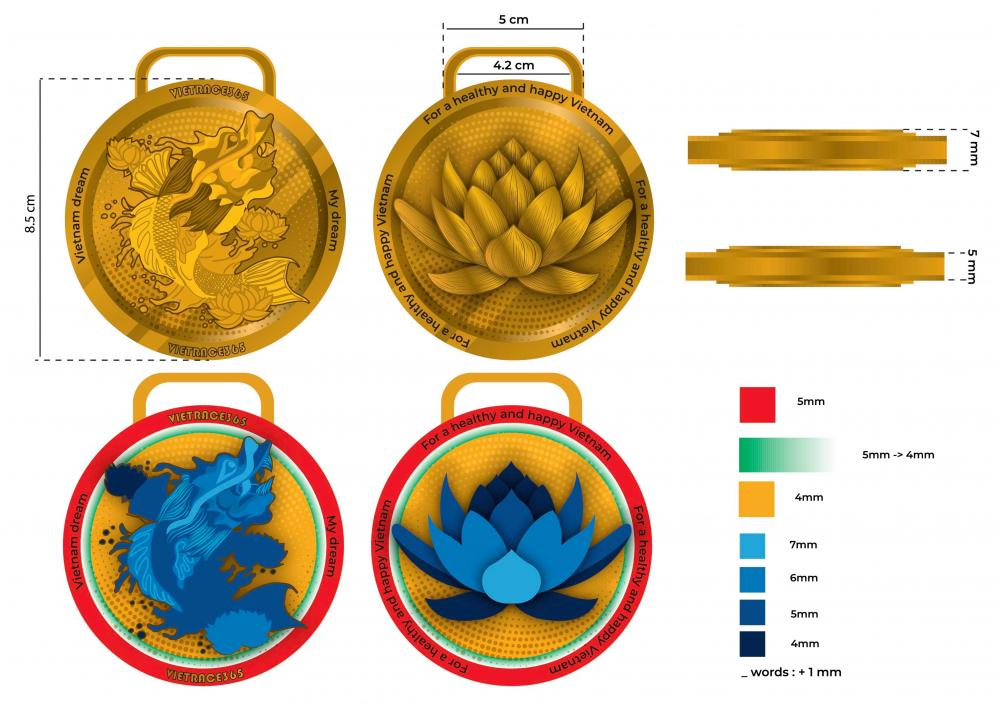 200 2000pcs The Carp And Lotus Medal