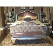Royal neo-classical bed and night table BD8012