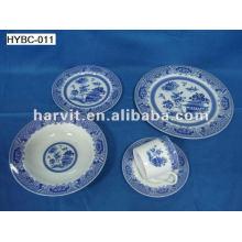 Ensembles de vaisselle ronde en bleu et blanc 20pcs en Chine