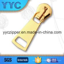 Yyc Heavy Duty Auto Lock Gold Metal Zipper Slider