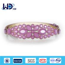 Hot sale Ladies Fashion Metal Purple belt