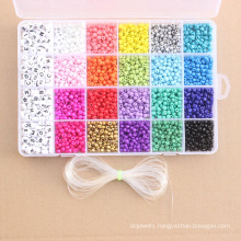 Shangjie OEM Customized 24 grid beads for diy jewerely Crystal Jewelry Making Kit glass seed beads