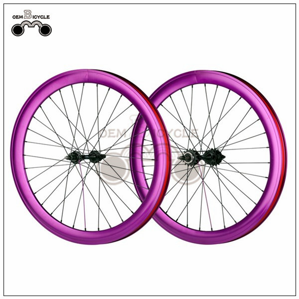 700C 40mm fix double-walled aluminum wheelset9