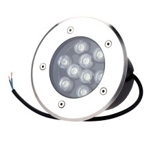 Stainless Steel Round Recessed Underground LED Pave Light Inground Lamp 9W Outdoor