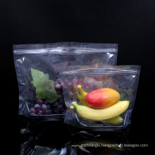 Transparent Zipper Top Keep Fresh Fruit Vegetable Package Plastic Bag with Hole