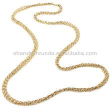 """Venta al por mayor joyas de oro baratos 36 """"collar de cadena larga fabricante"""