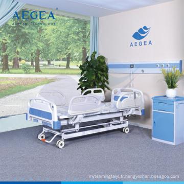 AG-BY104 réglable détachable tête de lit moteur électrique à 3 fonctions pour cadre de lit avec quatre roues silencieuses