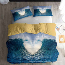 3D Printed Bedding Set with Waves, Also Suitable for Duvet Cover