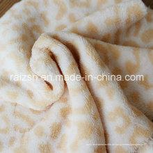 Leopard-Sided Coral Fleece, Plüsch Sleepwear Herbst und Winter Stoffe