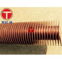 Tubo de cobre com aletas serrilhadas para resfriador de ar