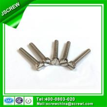 Schlitzschraube aus rostfreiem Stahl