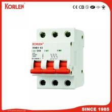 nouveau type KNB1-63 Mini disjoncteur 1-63A MCB