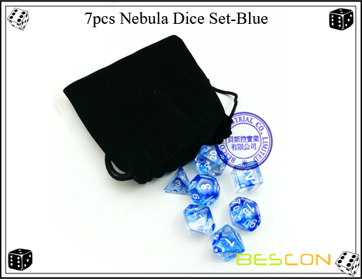 7pcs Nebula Dice Set-Blue-1