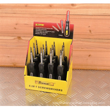 Hand Tools Screwdriver OEM Soft Grip 6 In1 Display Box