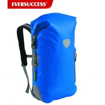 Mochila impermeável de encerado: 500D PVC, 35L com costuras soldadas, guarnição reflexiva, apoio traseiro acolchoado
