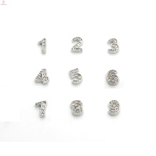На заказ Логос металла амулеты, алмаз письмо подвески, стразы цифры подвески