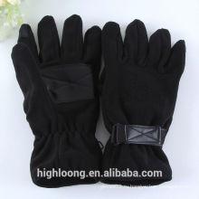 Темно-черные флисовые перчатки с ручным захватом ладони
