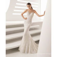Water Soluble Lace Embroidered Flower Wedding Dress