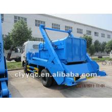 DongFeng 4x2 camión de basura mini 4m3 camión de basura hidráulico levantador