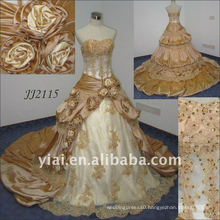 2010 Latest Most Stunning new real arrival beaded wedding dress JJ2115