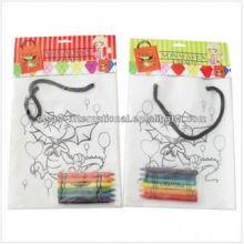 bolso no tejido dibujo niños diy pintura bolso hecho a mano con lápiz