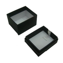 Caja de presentación colgante / collar de joyería de papel negro al por mayor (BX-PN-B)
