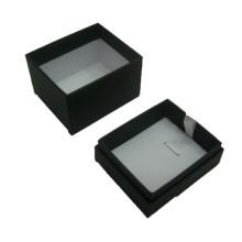 Boîte de présentation pendentif / collier en papier noir en gros (BX-PN-B)