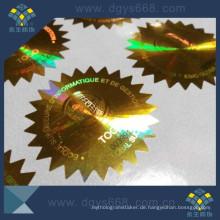 Laseraufkleber mit Sicherheitsdruck