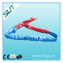 8t*8m Polyester Double Eye Round Sling Safety Factor 5: 1